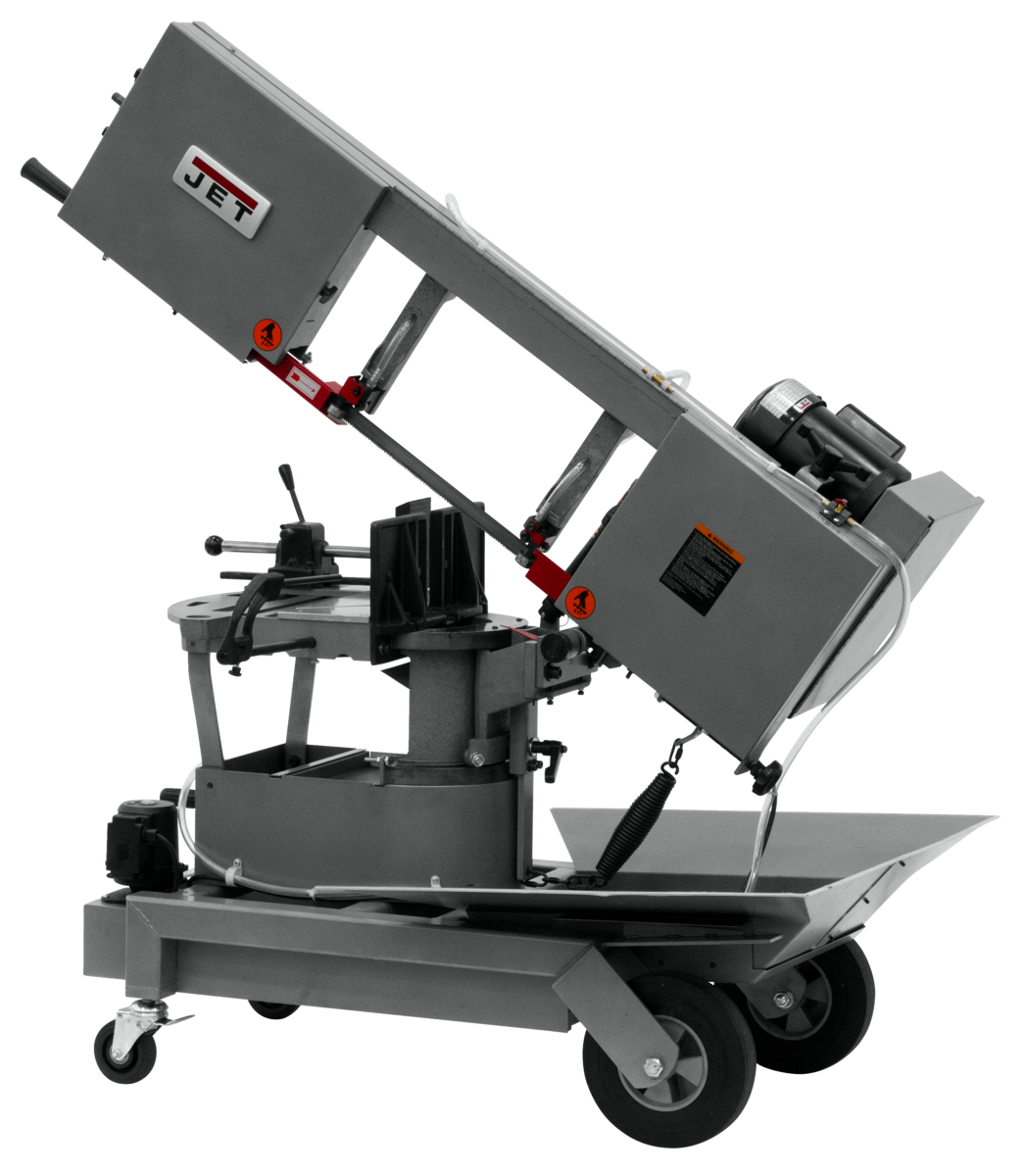 """HVBS-10-DMWC 10""""  Horizontal/Vertical Dual Mitering Portable Band Saw with Coolant System, 1HP, 115V"""